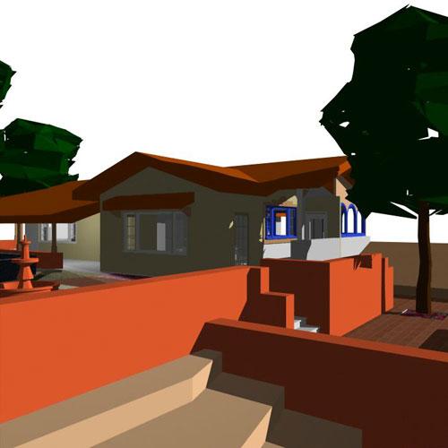 Habitat studio adelaide adobe residence for Courtyard home designs adelaide
