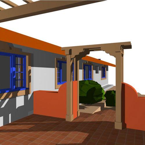 Habitat studio adelaide adobe residence for Courtyard designs adelaide